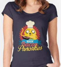 Jake The Dog. Women's Fitted Scoop T-Shirt