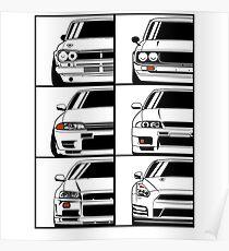 Nissan Skyline. Evolution Poster