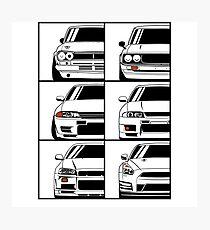 Nissan Skyline. Evolution Photographic Print