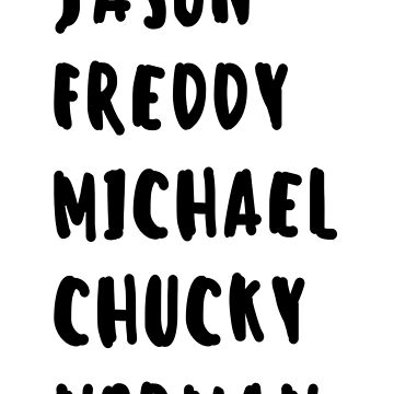 Favorite Horror Character Names by HeavenofHorror