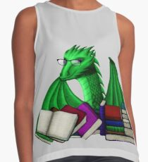 Green Dragon with Book Hoard Contrast Tank