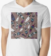 Colorful tribal feathers print. Vector illustration T-Shirt
