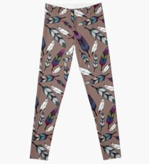 Colorful tribal feathers print. Vector illustration Leggings