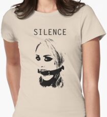 Silence, Mouth Gag. BDSM T-shirt Womens Fitted T-Shirt
