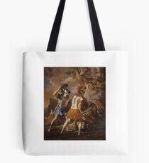 The Companions of Rinaldo , Nicolas Poussin, Tote Bag