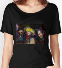 CARNIVAL NIGHT IN VENICE Venetian Masquerade Masks Women's Relaxed Fit T-Shirt