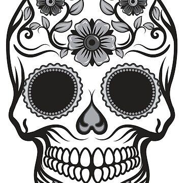 Candy Skull in Black & White by HeavenofHorror