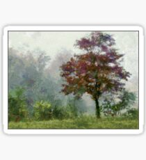 Tree In Lifting Fog Sticker