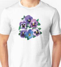 Circle of Purple Pansies Unisex T-Shirt