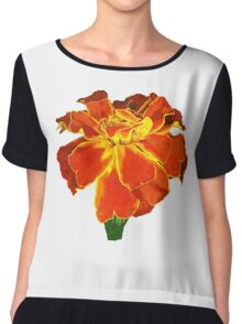 One French Marigold Chiffon Top