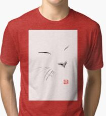 white cat Tri-blend T-Shirt