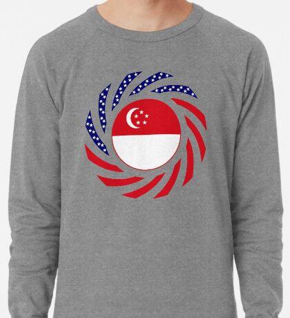 Singapore American Multinational Patriot Flag Series Lightweight Sweatshirt