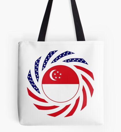 Singapore American Multinational Patriot Flag Series Tote Bag