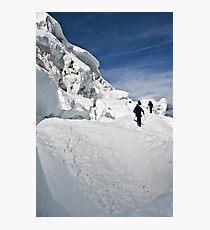 climbing weissmies  Photographic Print