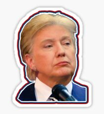 Donald Hillary Trump Clinton 2016 President Sticker