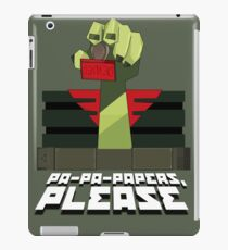 PA-PA-PAPERS, PLEASE!!! iPad Case/Skin