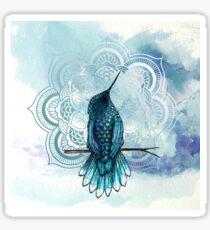 Aquarela hummingbird Sticker
