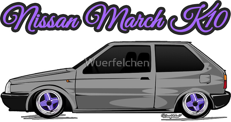 nissan march micra k10 grey purple stickers by. Black Bedroom Furniture Sets. Home Design Ideas