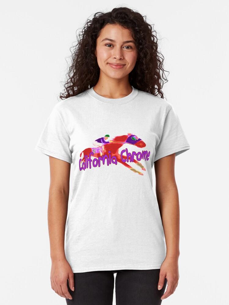 Alternate view of Fun California Chrome Design Classic T-Shirt