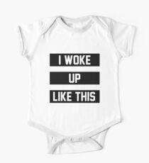 Ich bin so aufgewacht Baby Body Kurzarm