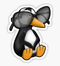 Penguin with Eyeglasses Sticker