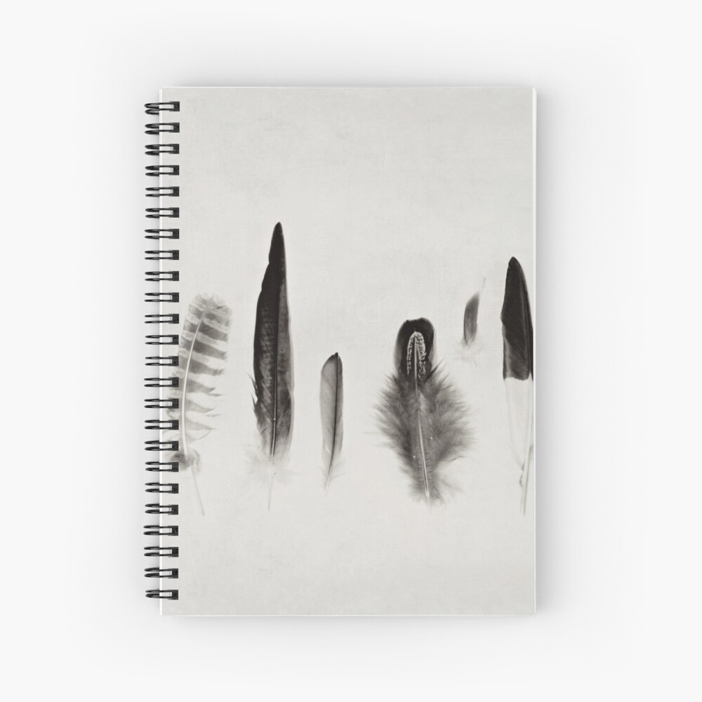 Feather Study no. 3 Spiral Notebook