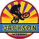 MOUNTAIN BIKE JACKSON WYOMING BIKING MOUNTAINS by MyHandmadeSigns