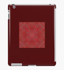 Red Mexican Aztec Print iPad Case/Skin