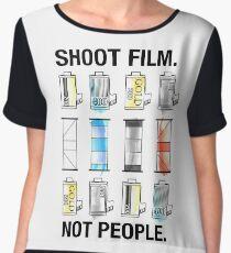 SHOOT FILM. NOT PEOPLE. Women's Chiffon Top