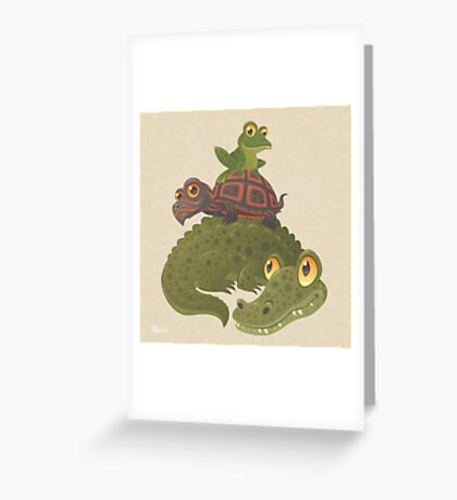 Swamp Squad Greeting Card