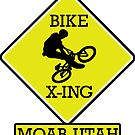 MOUNTAIN BIKE MOAB UTAH BIKE XING CROSSING BIKING MOUNTAINS by MyHandmadeSigns