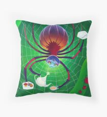 Spider Snack Throw Pillow