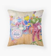 Froggy Band Throw Pillow