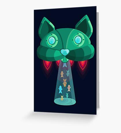 CatShip Greeting Card
