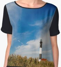 Fire Island Lighthouse Women's Chiffon Top
