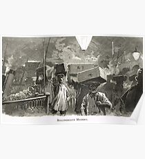 Billingsgate Fish Market, London, England in 19th Century Poster