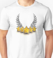 five star emblem for exclusivity and ultimate luxury T-Shirt
