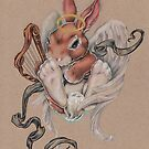 Angel Bunny (with harp and halo) by justteejay