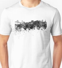 San Francisco skyline in black watercolor Unisex T-Shirt