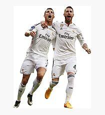 Cristiano Ronaldo Sergio Ramos Real Madrid Photographic Print
