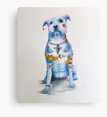 Pit Bull Tattoo Dog Canvas Print