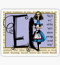 Alice in Wonderland and Through the Looking Glass Alphabet E Sticker