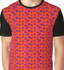 Bright Bold Abstract Patterned Contrasting Color Mix Graphic T-Shirt