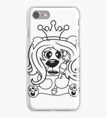 queen crown female princess queen woman scepter sitting Teddy comic cartoon sweet cute iPhone Case/Skin