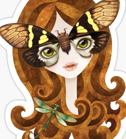 Gaeana Cicada Girl Sticker