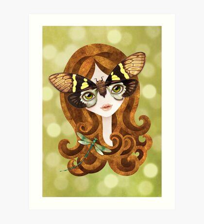 Gaeana Cicada Girl Art Print