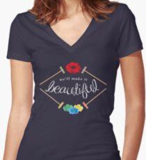 Make It Beautiful — Heathers: the Musical Women's Fitted V-Neck T-Shirt