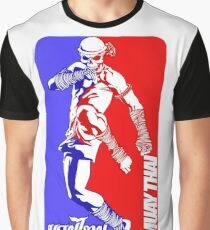 muay thai skull thailand martial art sport logo badge sticker shirt Graphic T-Shirt
