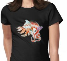 Dreamland Muses - Jellyfish Girl & Goldfish Womens Fitted T-Shirt