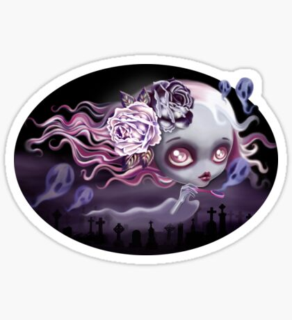 Ghostly Luna Sticker